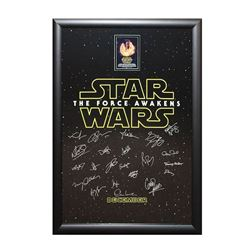 Star Wars - The Force Awakens Signed Movie Poster