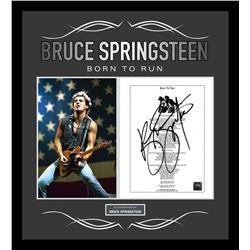 "Bruce Springsteen ""Born To Run"" Signed Lyrics"