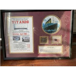 Actual Piece of Coal from Titanic Wreck Framed Collage