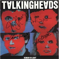 """Talking Heads """"Remain in Light"""" Signed Album"""