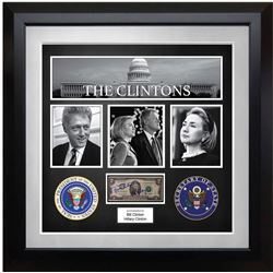 The Clintons Signed US $2 Note Collage