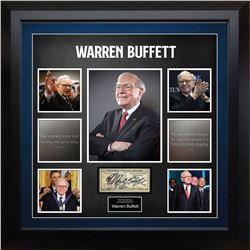Warren Buffett Signed US $10 Note Collage