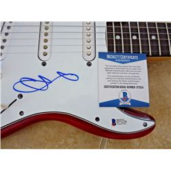 Beckett Chester Bennington Signed Guitar