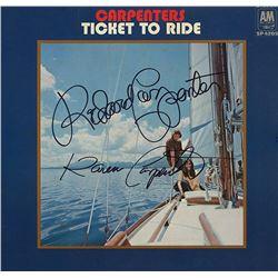 The Carpenters Duet Signed Ticket To Ride Album