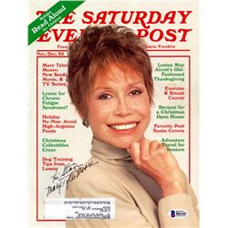 Beckett Mary Tyler Moore Signed Saturday Evening Post