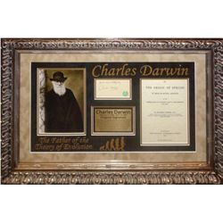Charles Darwin Framed Signature Collage