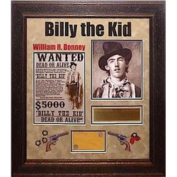 Billy the Kid Framed Signature Collage