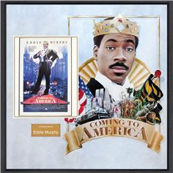 Eddie Murphy Signed Coming to America Mini-Poster Collage