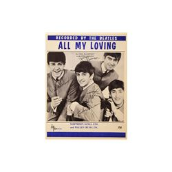"Beatles ""All My Loving"" Signed Sheet Music"