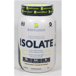 BODYLOGIX NATURAL ISOLATE, 840G, VANILLA FLAVOUR.