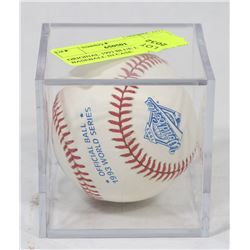 ORIGINAL 1993 BLUE JAYS BASEBALL IN CASE