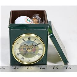 ENGLAND VINTAGE GOLF TIN CLOCK
