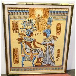 "27""X13"" FRAMED EGYPTIAN TAPESTRY."
