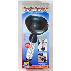 NEW! DRAIN BUSTER, POWERFUL DRAIN PLUNGER