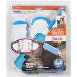 NEW! MAGIC FUR BRUSH - PET FUR & LINT REMOVER