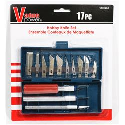 NEW! 17PC HOBBY KNIFE SET