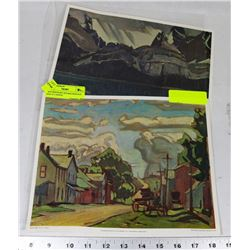 TWO PRINTS BY JEH MACDONALD AND AJ CASSON