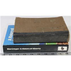 2 BOOKS, HISTORY OF ALBERTA 1979, UNIVERSAL
