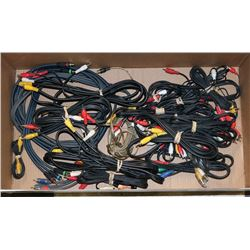 LARGE BOX OF ASSORTED AV CABLES AND MORE