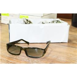 BOX OF DESIGNER DARK OLIVE GREEN SUNGLASSES