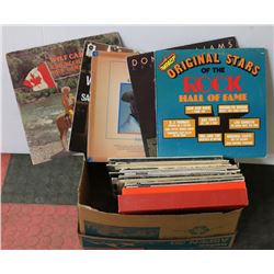 BOX OF LP RECORDS INCL JON AND VANGELIS, BUCK