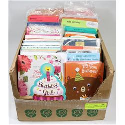 BOX OF 250+ HALLMARK/CARLTON ALL OCCASION