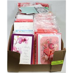 BOX OF 250+ HALLMARK/CARLTON ALL OCCASION GREETING