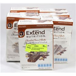 LOT OF 5 EXTEND NUTRITIONAL BARS WITH SWEETENER