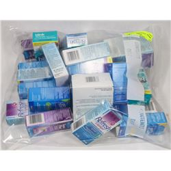 BAG OF ASSORTED EYE DROPS