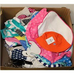 BOX OF ASSORTED NEW KIDS CLOTHES