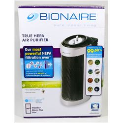 BIONAIRE TRUE HEPA AIR PURIFIER.