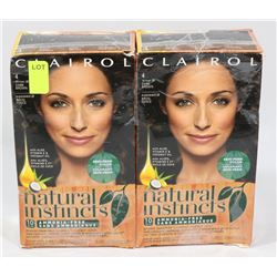 TWO BOXES OF CLAIROL NATURAL INSTINCTS HAIR COLOUR