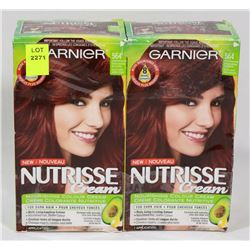LOT OF TWO GARNIER NUTRISSE CREAM COLOUR