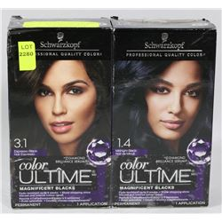 LOT OF TWO SCHWARZKOPF COLOR ULTIME