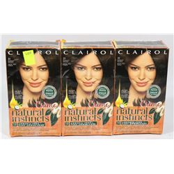 LOT OF 3 CLAIROL HAIR COLOUR