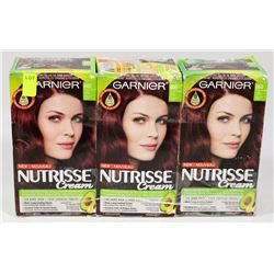 LOT OF 3 GARNIER HAIR COLOUR