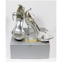 CELESTE SILVER LADY'S SIZE 7 SHOES, STYLE MAY-02