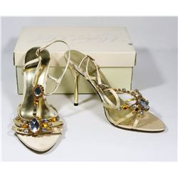 HIGHEST HEEL COLLECTION CHAMPAGNE SATIN LADY'S