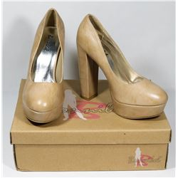 BONNIBELL BEIGE PU SIZE 7.5 LADY'S SHOES, STYLE