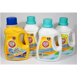LOT OF 4 ASSORTED ARM & HAMMER LAUNDRY DETERGENT