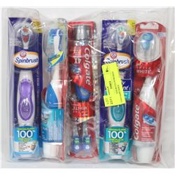 BAG OF ASSORTED POWERED TOOTHBRUSHES