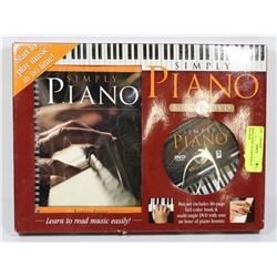 SIMPLY PIANO, 80-PAGE BOOK & DVD WITH