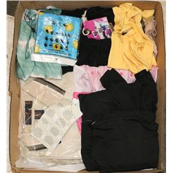 BOX W/NEW LADIES CLOTHING INCL. 3
