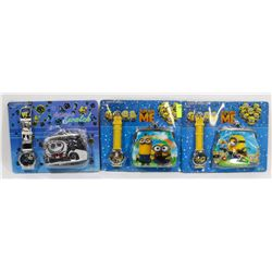 BUNDLE OF 3 NEW KIDS WATCH AND WALLET SETS