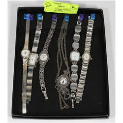 QUARTZ WATCHES, 5 WRIST, 1 PENDANT ALL WITH