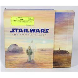 STAR WARS THE COMPLETE SAGA DVDS.