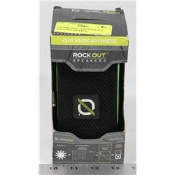 UNUSED GOAL ZERO ROCK OUT PORTABLE SPEAKER,