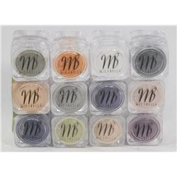 12 ALL DIFFERENT MICABELLA EYE SHADOW SHIMMER