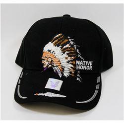 "NEW ""NATIVE HONOR"" ADJUSTABLE BALL CAP"