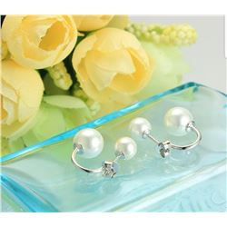 NEW! .925 STERLING SILVER FRESHWATER PEARL STUD